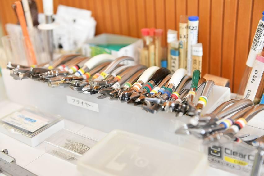 歯科医院の道具の写真